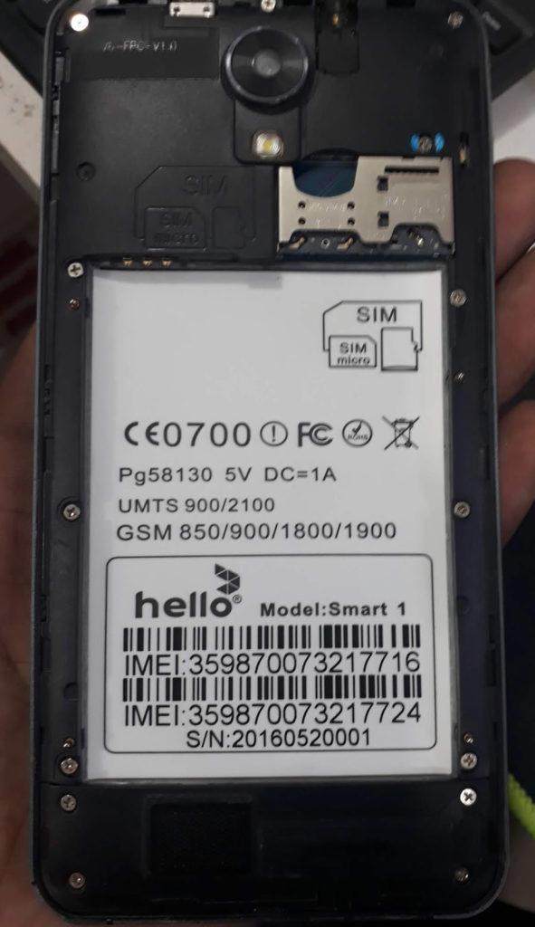 Hello Smart 1 Flash File Firmware MT6580 6 0 Stock Rom