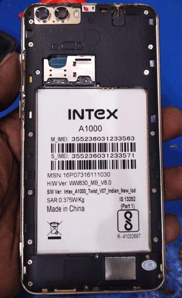 Intex A1000 Flash File MT6580 5 1 New Update Version