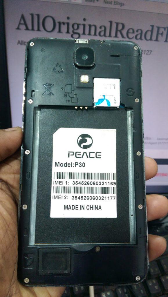 Peace P30 Flash File MT6582 4 4 2 Nougat Update Firmware