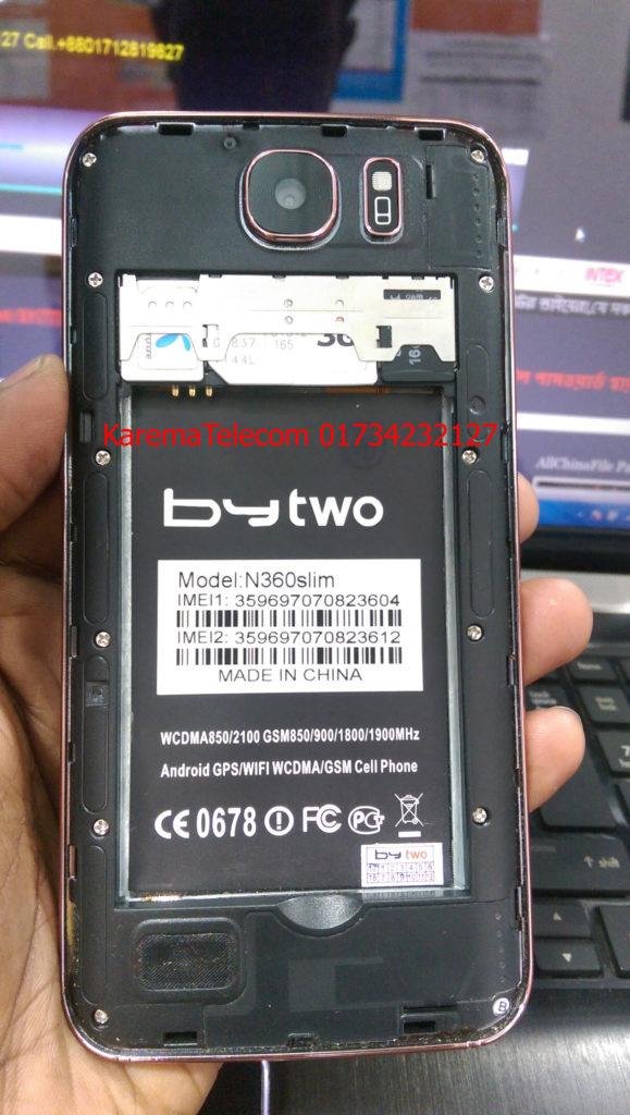 Bytwo N360 Slim flash file MT6572 Update firmware version
