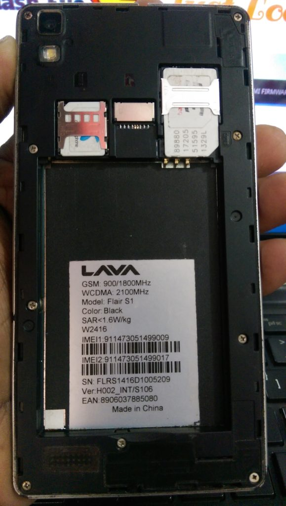 Lava Flair S1 S106 Flash File MT6572 4 4 2 Update firmware
