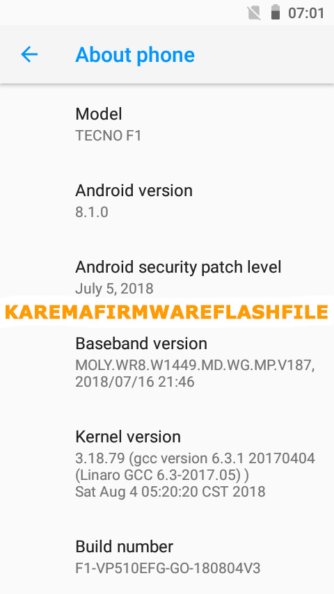 Tecno F1 Flash File Frp MT6580 8 0 Customer Care File