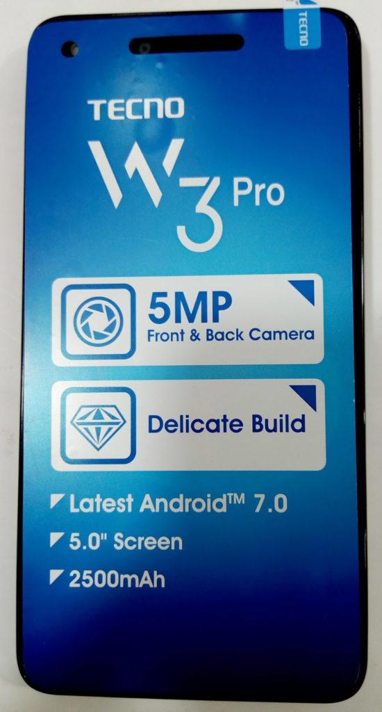 Tecno W3 Pro Flash File Frp Lcd MT6580 7 0 Customer Care File
