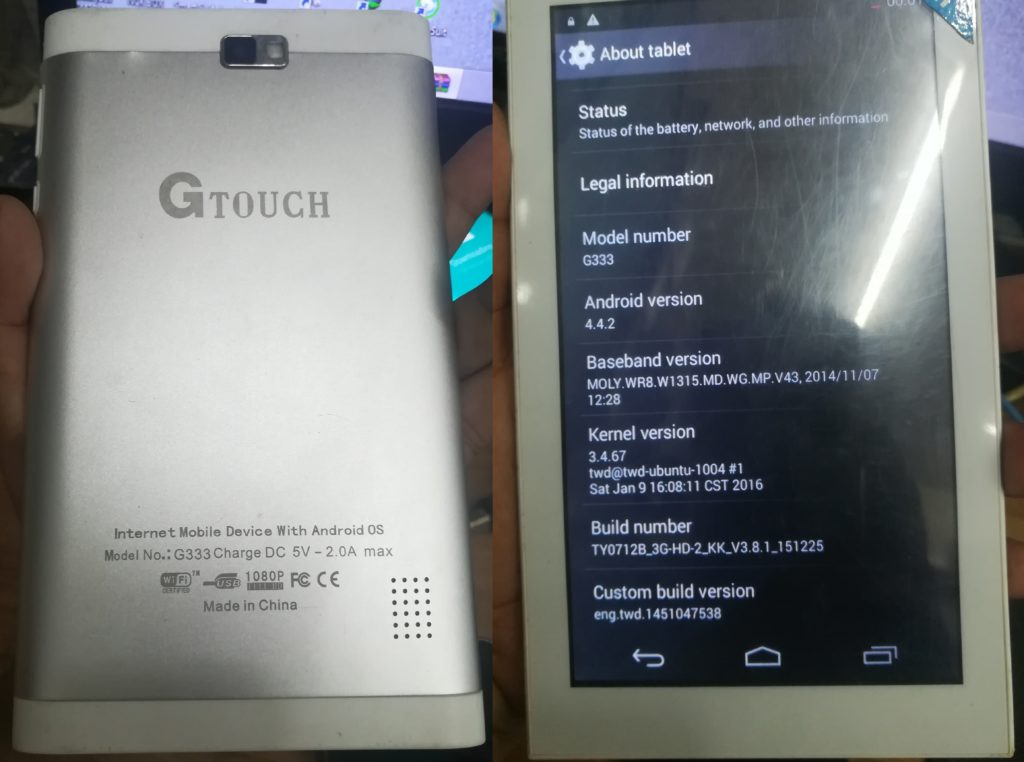 G-Touch G333 Flash File Tab MT6572 4 4 2 All Version