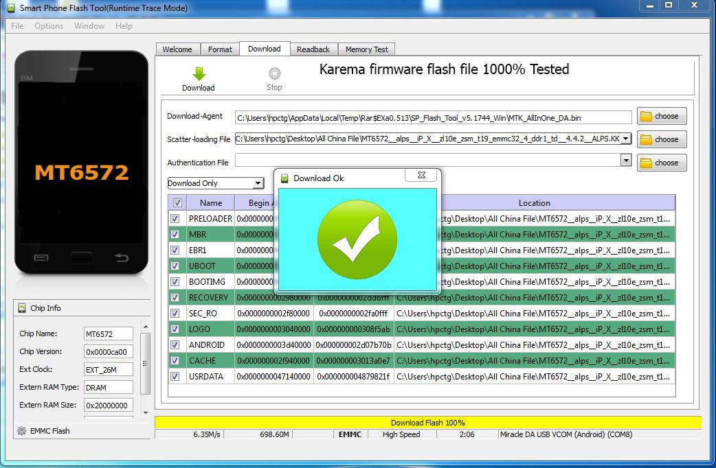 Mt6572 Flash File