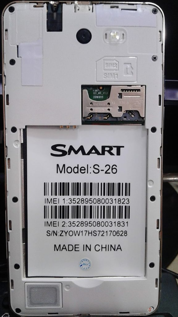 Smart S-26 Flash File Firmware MT6572 4 4 2 Update 100%Tested