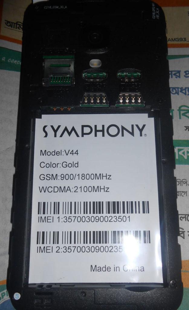 Symphony V44 Flash File HW2 Lcd MT6580 All Firmware   Rom