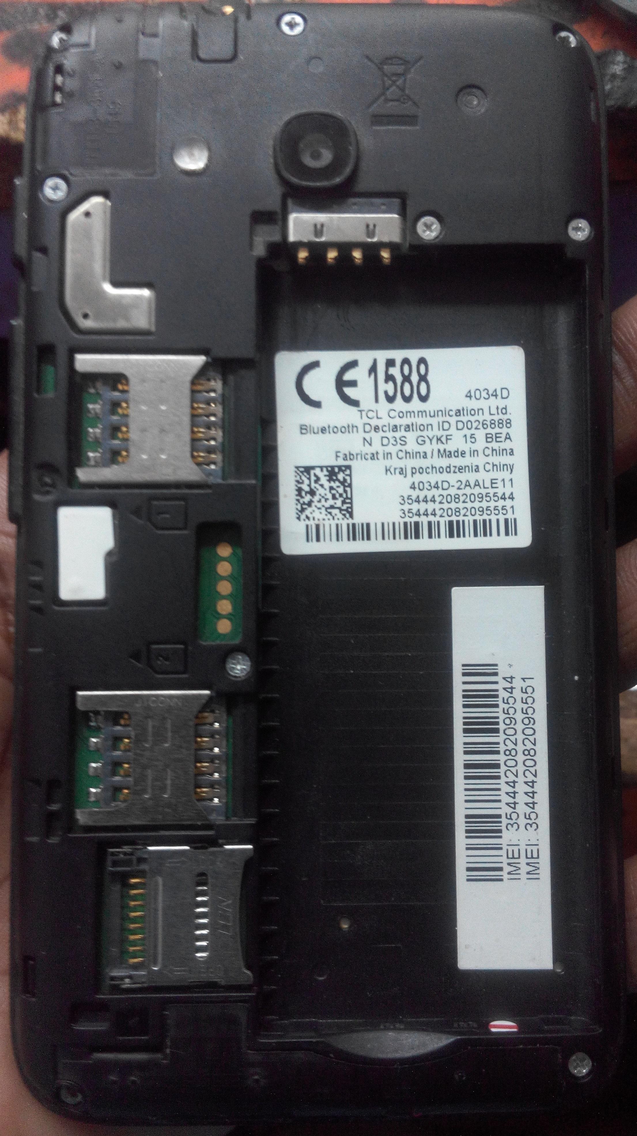 Alcatel 4034D Flash File MT6580 6 0 Firmware | Download