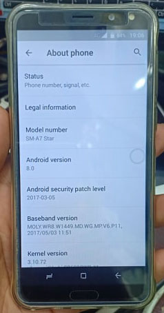 Samsung Clone A7 Star Flash File MT6580 Android 8 0 (Stock ROM)