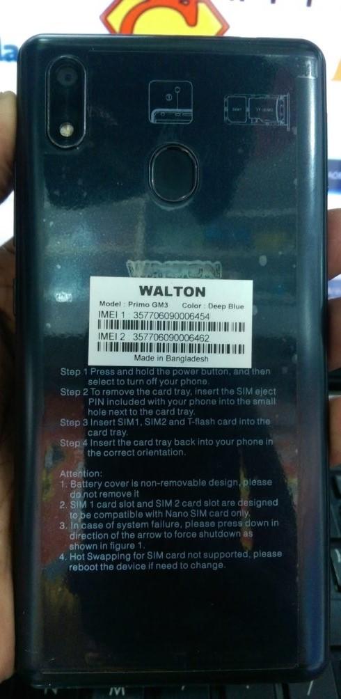 Walton Primo GM3 Flash File V12 LCD MT6739 8 1 (Stock ROM)