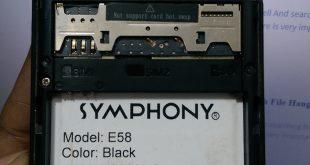 Symphony E58 Firmware