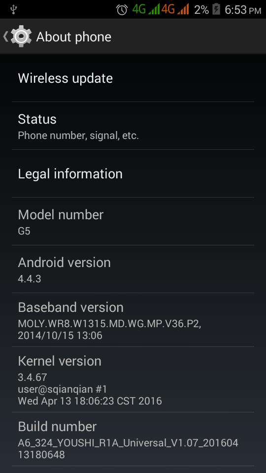 Yestel G5 Firmware