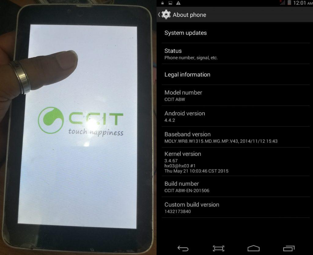 Ccit A8W Firmware
