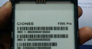 Gionee F205 Pro Firmware
