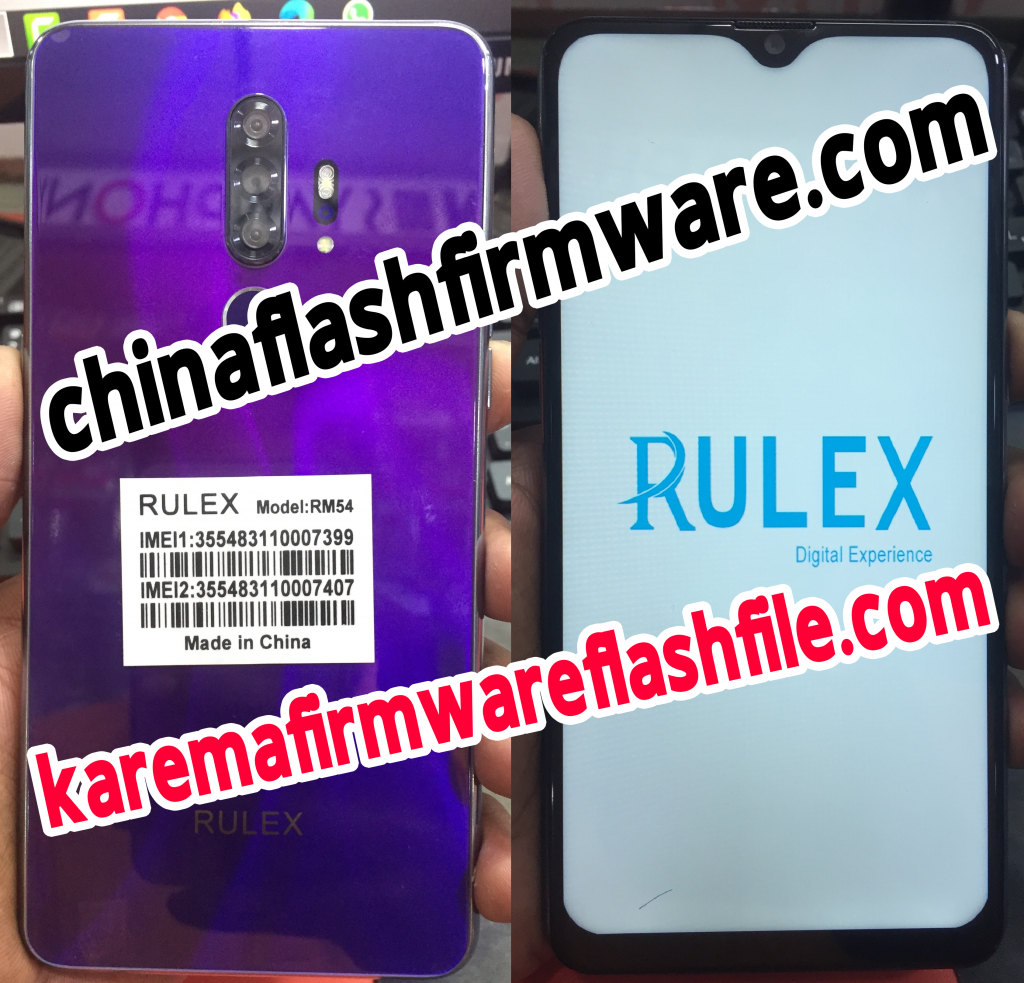 Rulex RM54 flash file