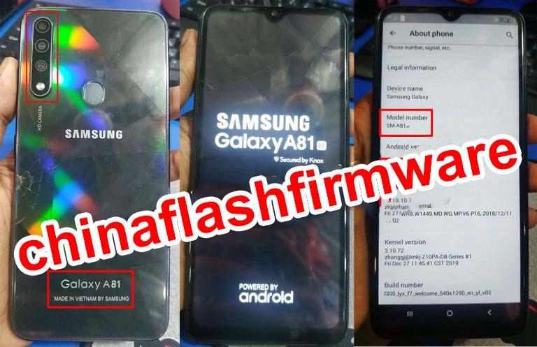 Samsung Clone A81 flash file
