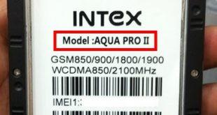 Intex Aqua Pro ii Flash File