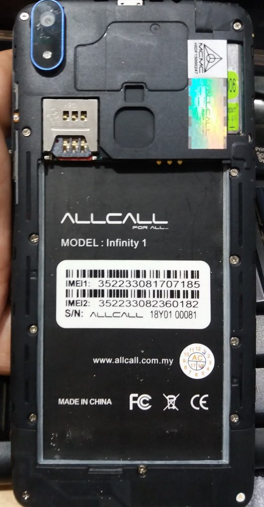 Allcall Infinity 1 Flash File